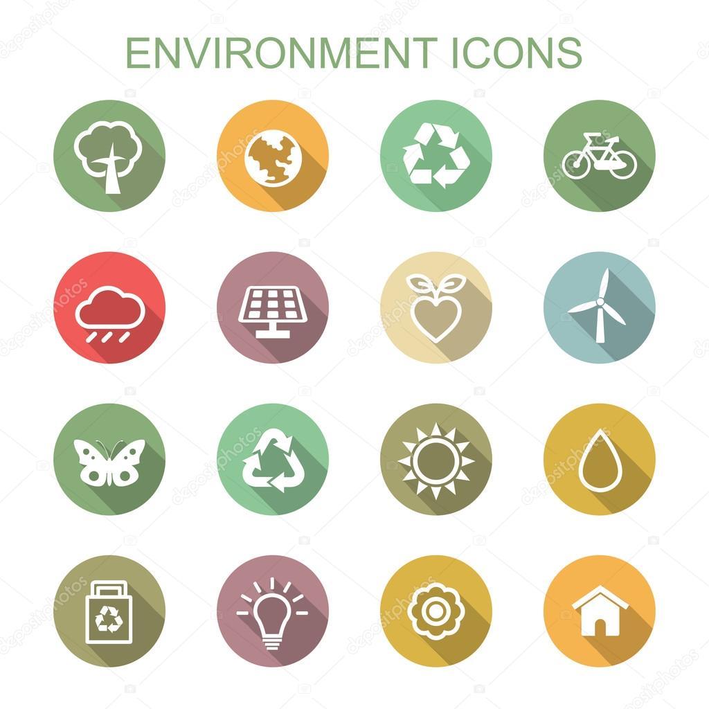 environment long shadow icons