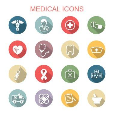 medical long shadow icons