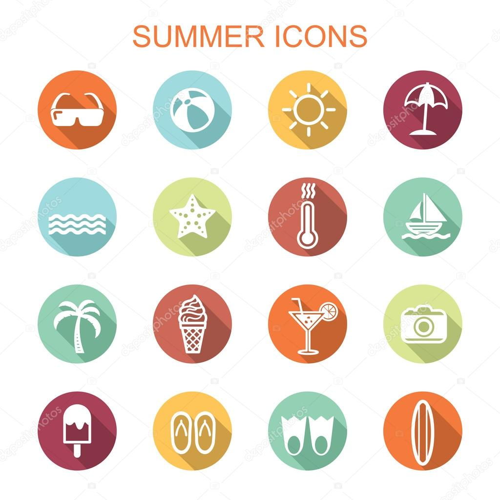 summer long shadow icons