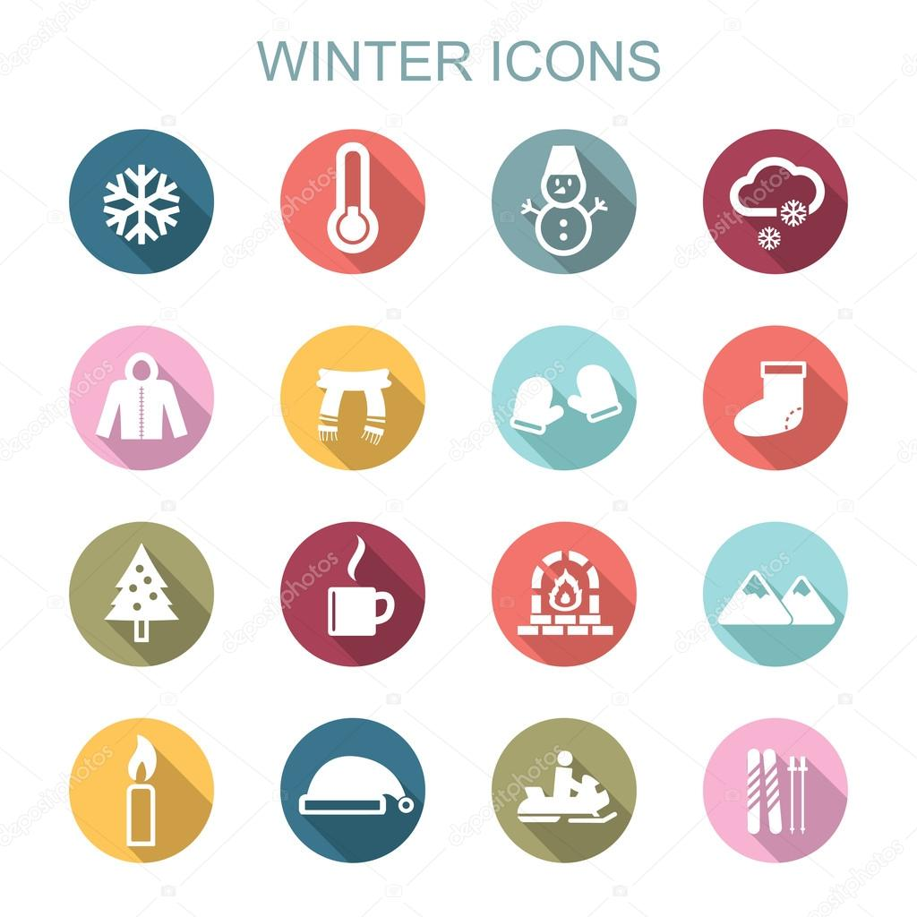 winter long shadow icons