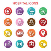 Fotografie hospital long shadow icons