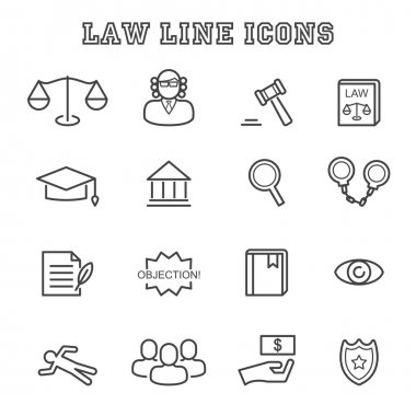 law line icons