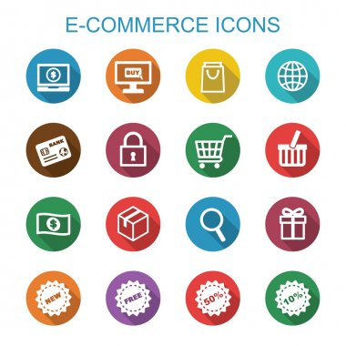 e-commerce long shadow icons