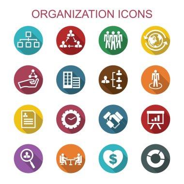organization long shadow icons