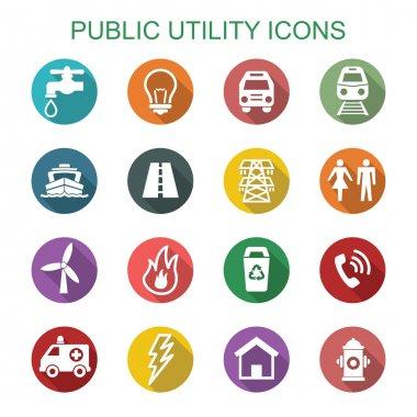 public utility long shadow icons