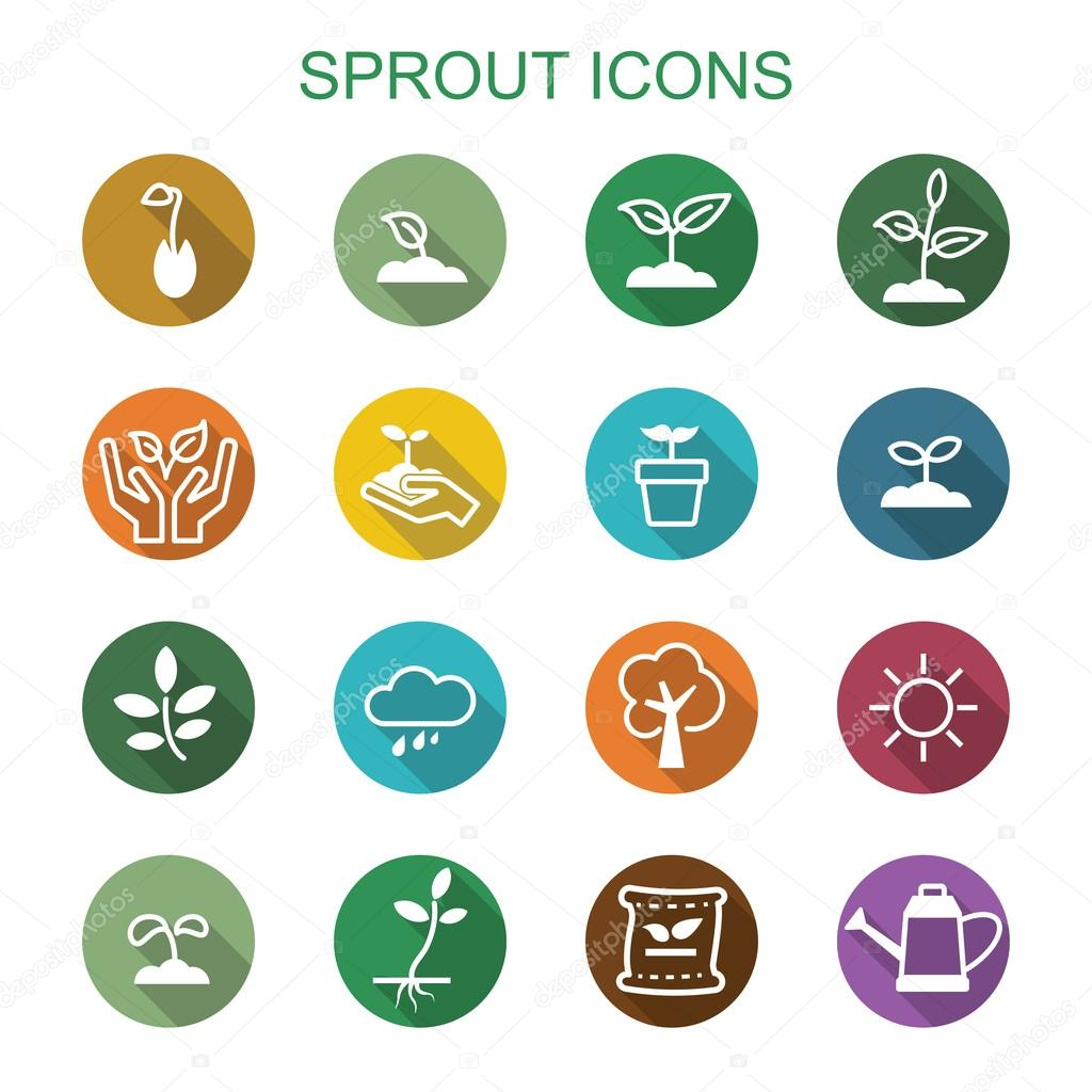 sprout long shadow icons