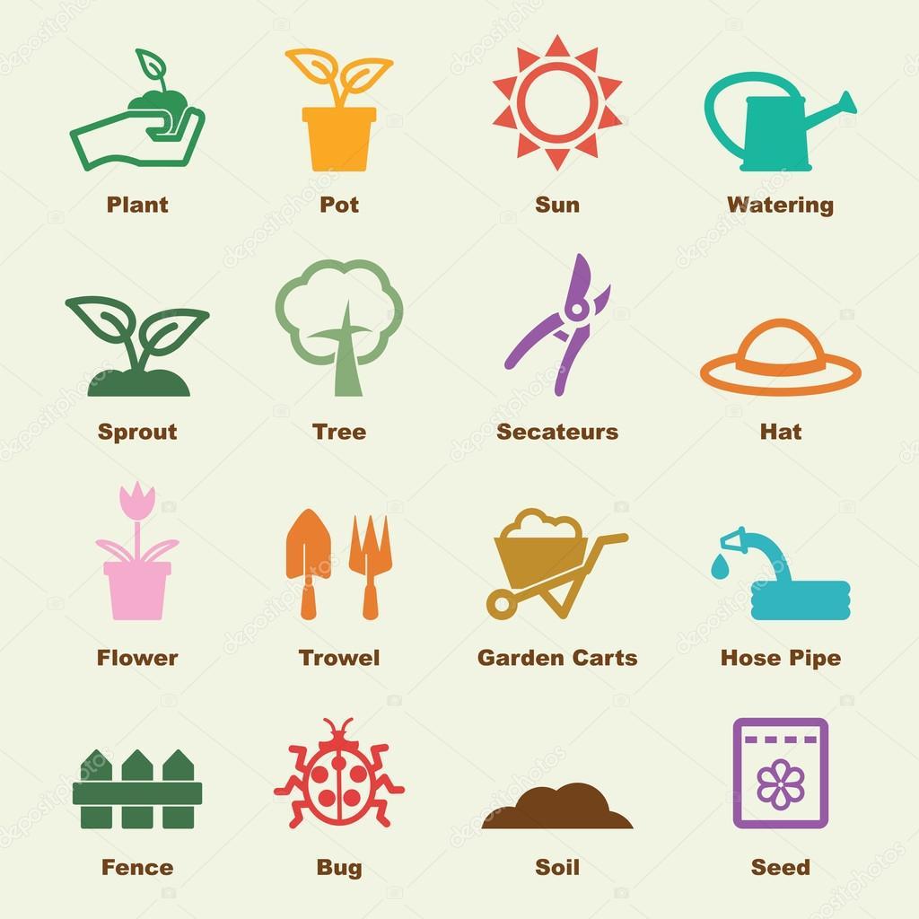 Elementos de jardiner a vector de stock tulpahn 82294974 for Elementos de jardineria