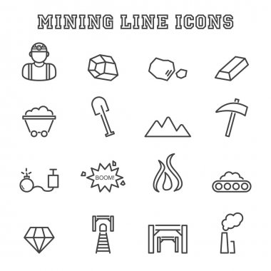 mining line icons