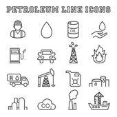 petroleum line icons