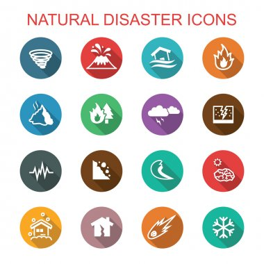 natural disaster long shadow icons