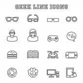 Geek linie ikony