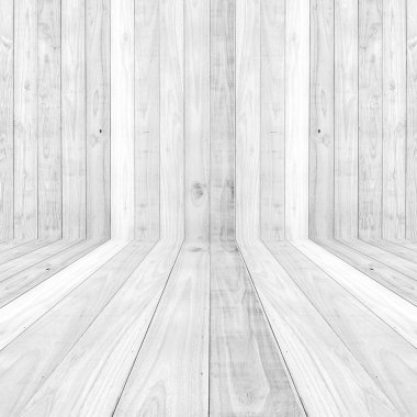 Big White wood plank floor texture background