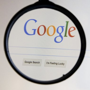 THAILAND - SEPTEMBER 2, 2014: Magnifying glass of Google search
