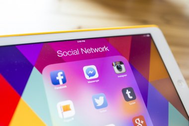THAILAND - SEPTEMBER 07, 2014: All of popular social media icons
