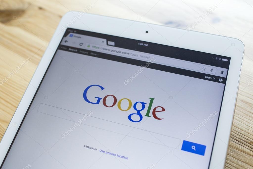 CHIANG MAI, THAILAND - SEPTEMBER 07, 2014: A Google search home