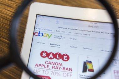 CHIANG MAI, THAILAND - September 17, 2014: Close up of ebay.com