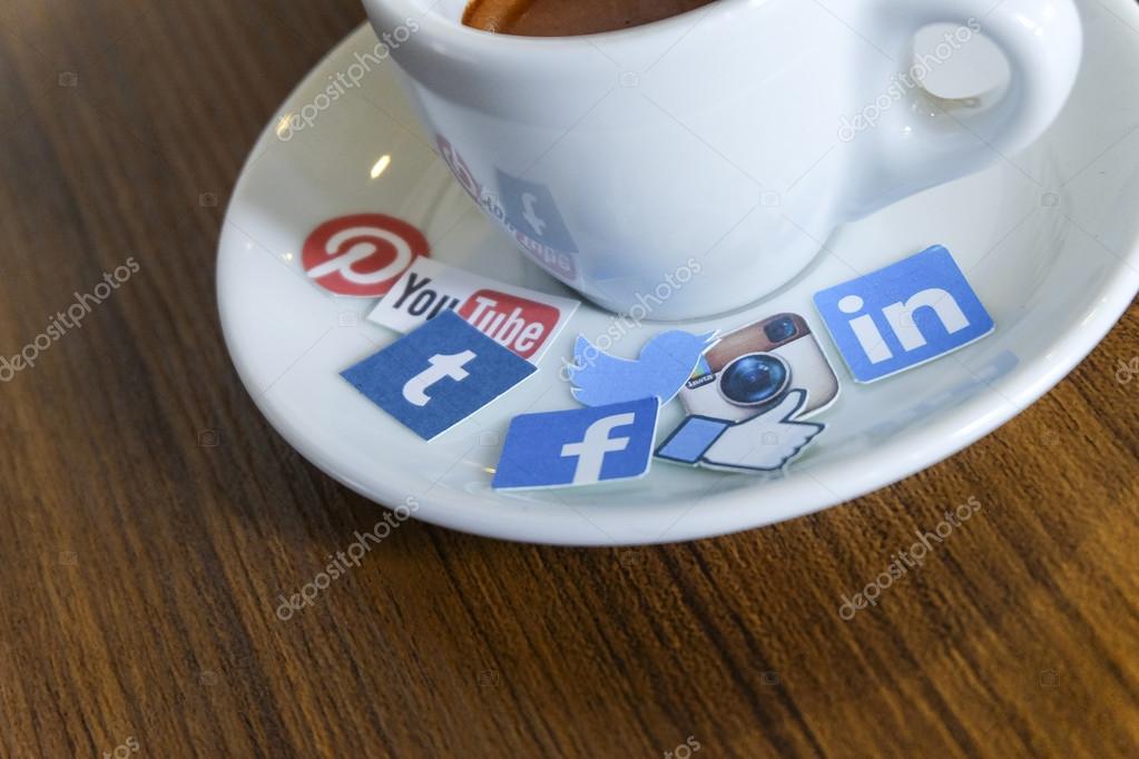 CHIANG MAI, THAILAND - SEPTEMBER 24, 2014: Social media brands p