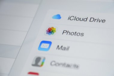 CHIANG MAI, THAILAND - OCTOBER 03, 2014: Apple icloud icon apps