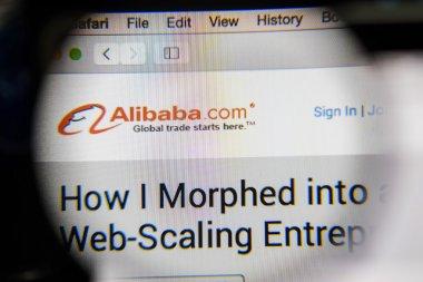 CHIANG MAI, THAILAND - OCTOBER 22, 2014: Alibaba website close u