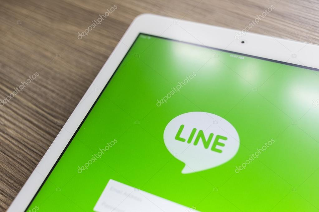 CHIANG MAI, THAILAND - OCTOBER 21, 2014: Line application chat m