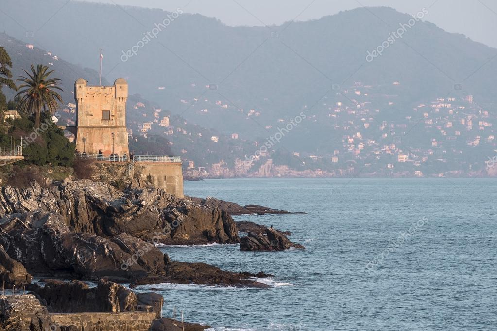Tower on the cliffs of Nervi