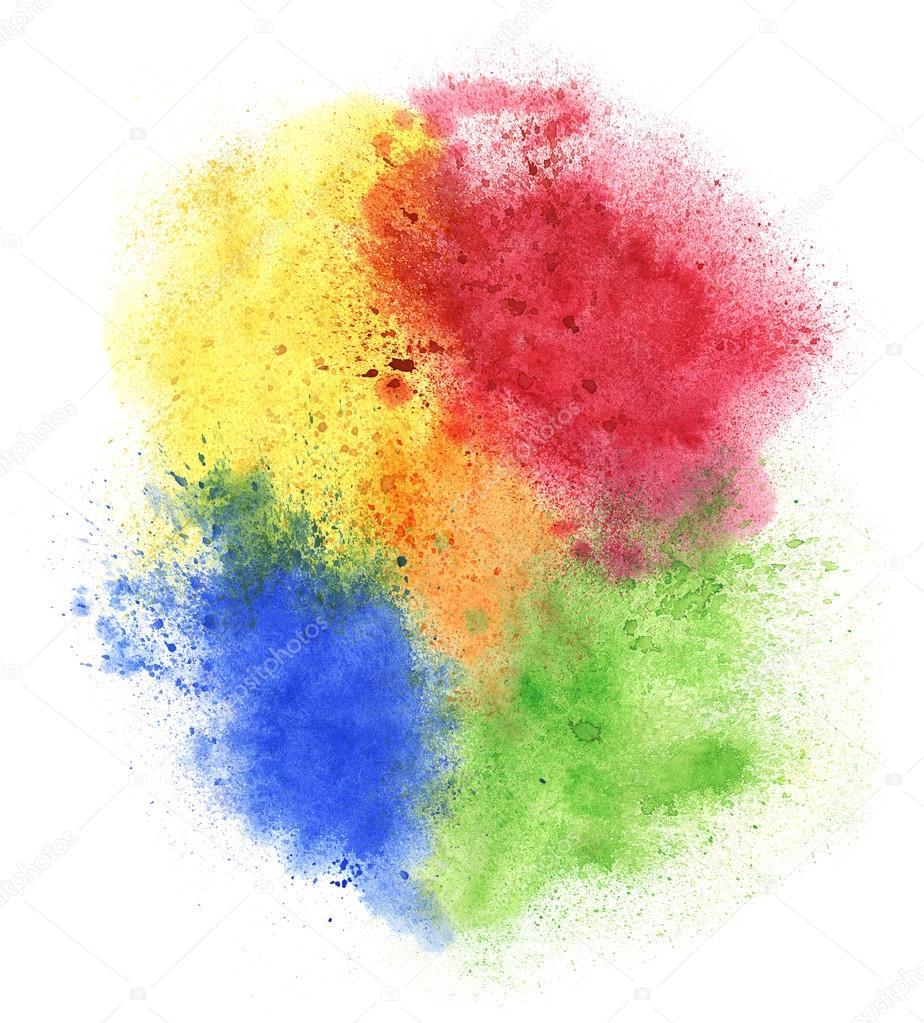 Spruzzi di vernice colorata foto stock prikhnenko for Immagini di pareti colorate
