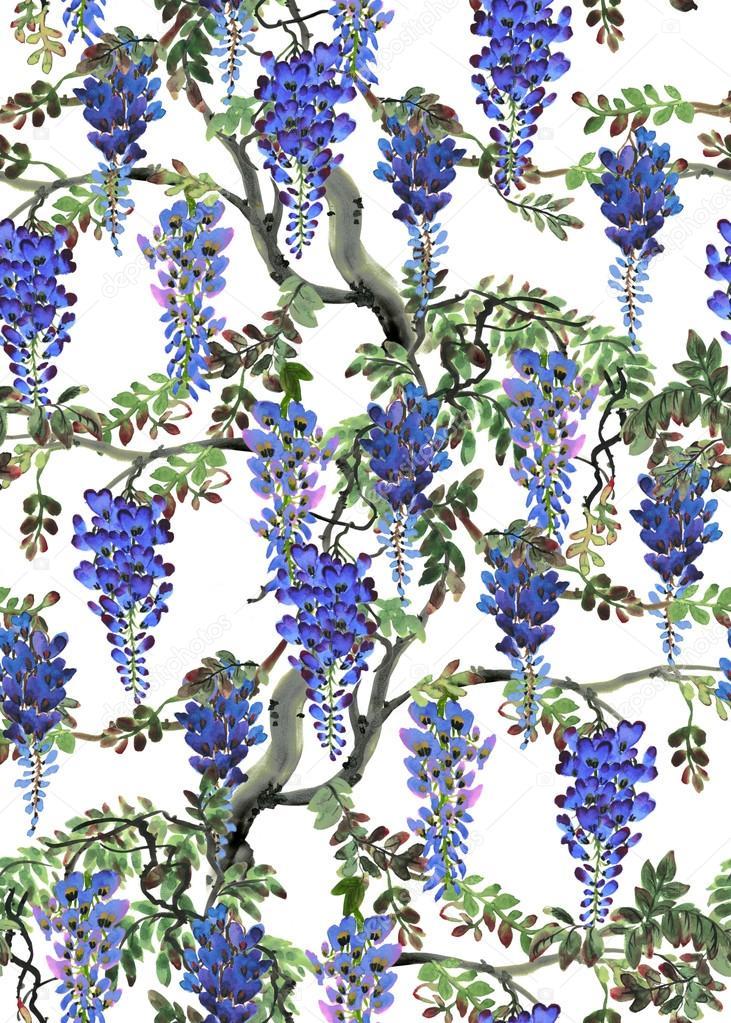 blue wisteria tree