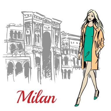 woman walking near Milan