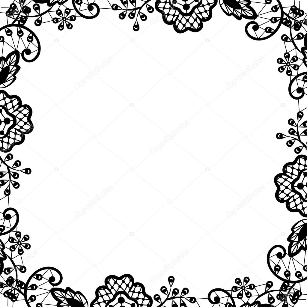 black lace on white background stock vector prikhnenko 53400645 rh depositphotos com