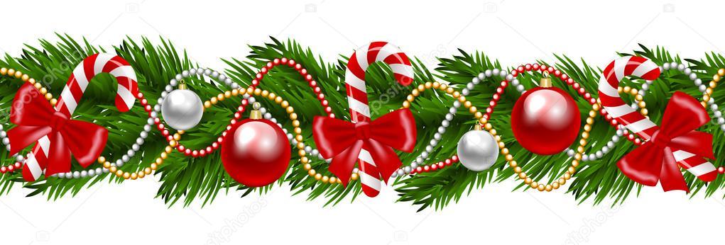Vector Guirnalda Navidad Guirnalda De Navidad Vector De Stock - Guirnalda-navidad