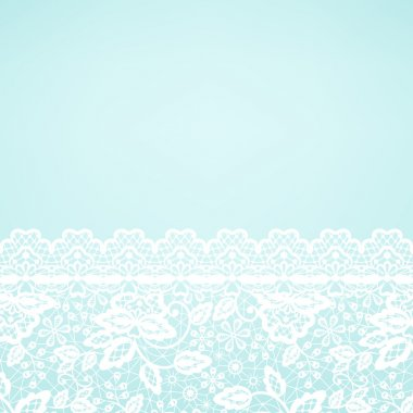lace border on green background