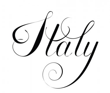 Italy lettering