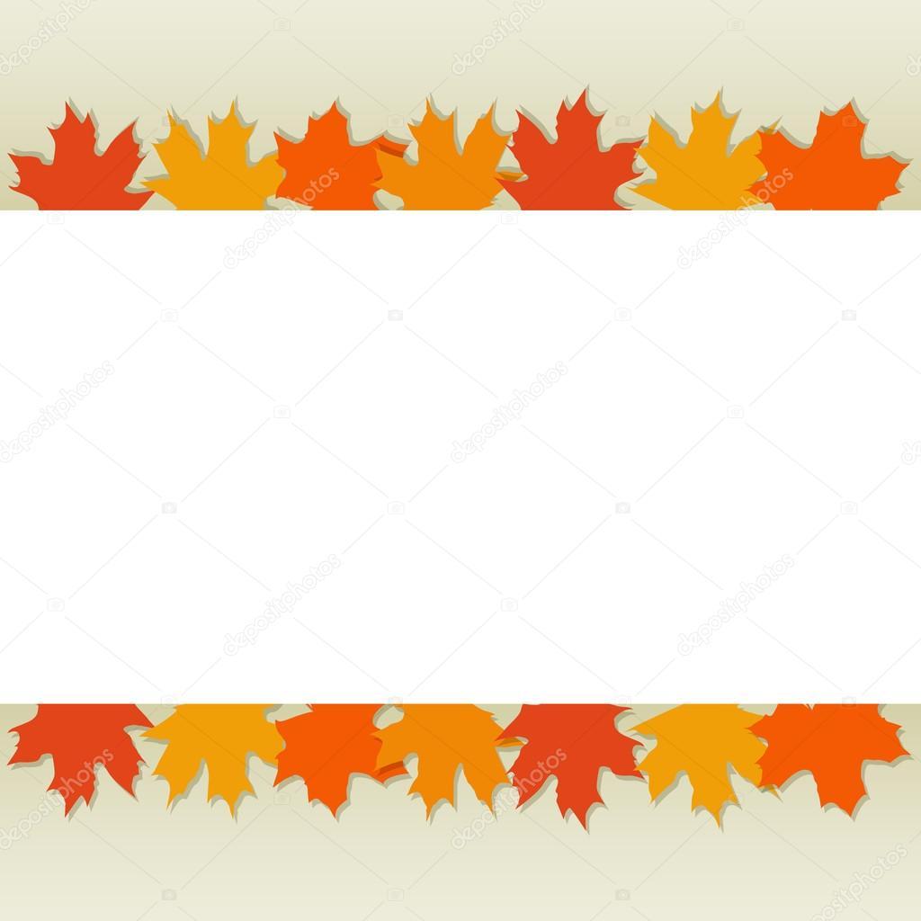 autumn leaves border stock vector prikhnenko 84386534