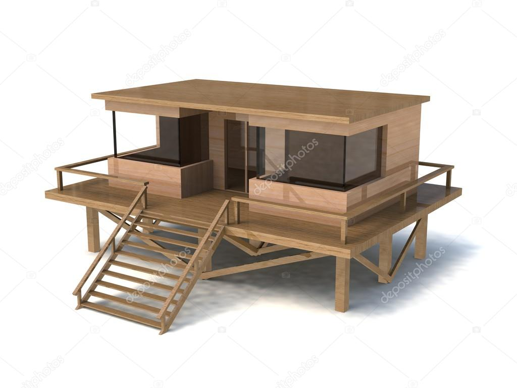 Simple House Model 3d Simple House Model Stock Photo