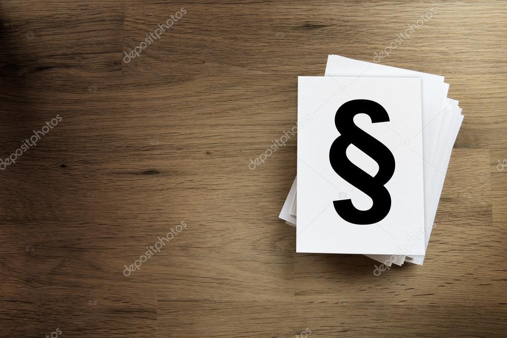 papier kaart met paragraaf teken — stockfoto © w20er #80200750
