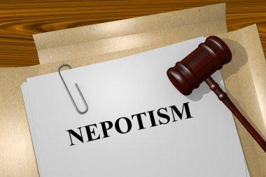 Nepotism concept illustration