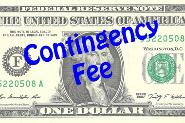 Contingency Fee business concept