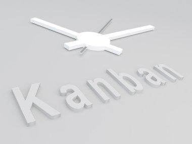 Kanban - industrial manufacturing schedule concept