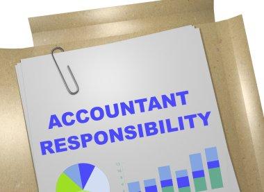 Accountant Responsibility concept