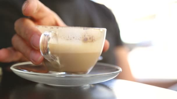 Latte in a cafe