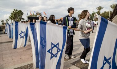 Israeli youth before independence day celebrations