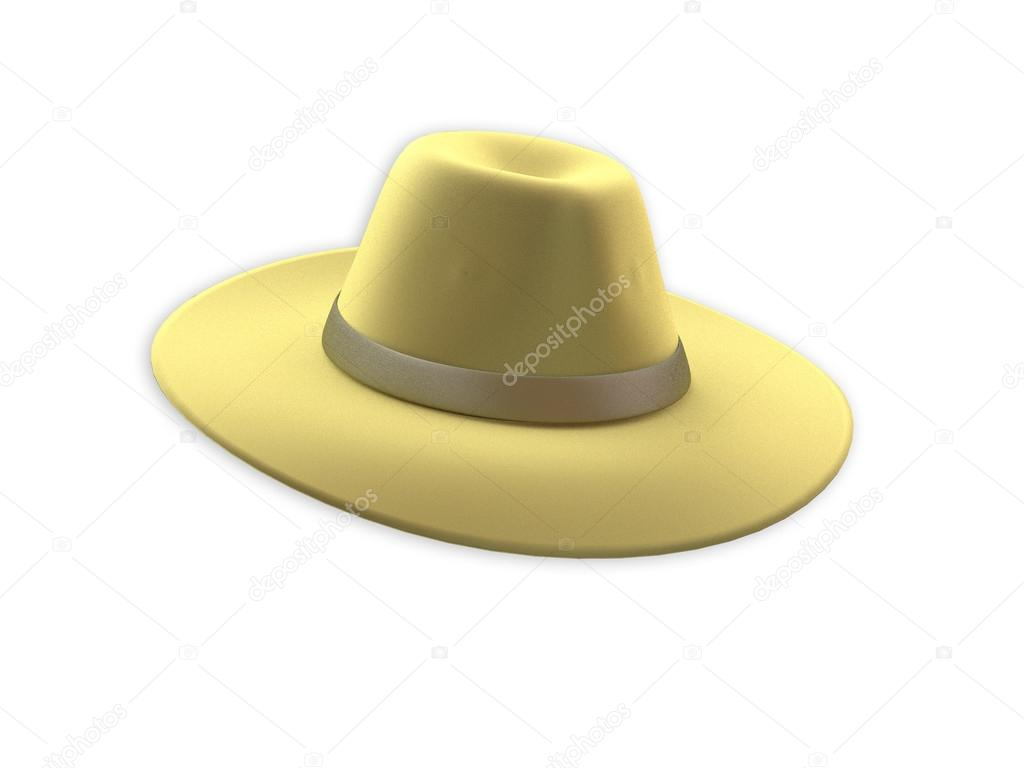 Yellow Felt Hat — Stock Photo © Premium shots  72009527 ebcdc687b96