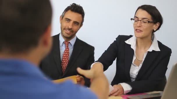 Job interview infront of two people