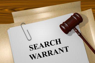 Search Warrant concept