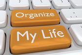 Fotografie Mein Leben-Konzept zu organisieren