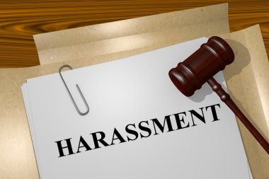 Harassment papers concept