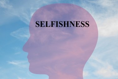 Selfishness illustration concept