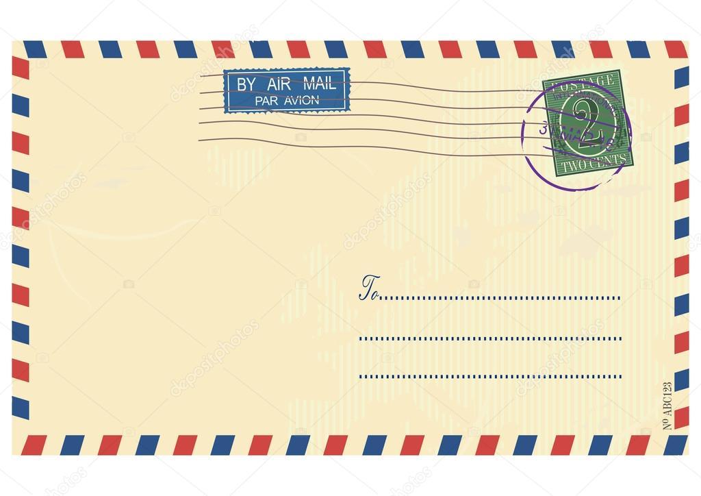 エアメール封筒ベクトル ストックベクター Norsob 104845098
