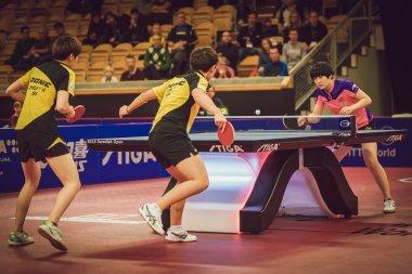 Final match in double between Ye, Yihan (SIN) and Meng, Zi (CHI)