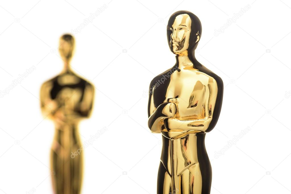 Isolated Golden Statuettes